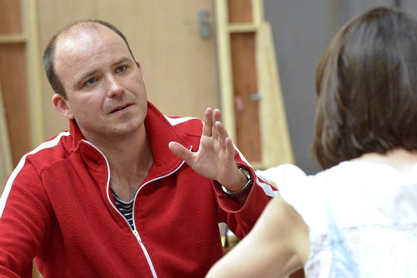 Rory Kinnear in rehearsal for The Trial