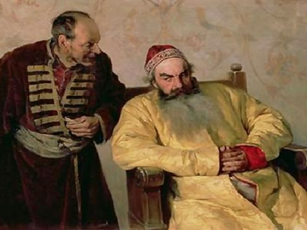 To the boyar with a denunciation - Lebedev, 1904